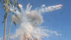 Thai Celebration Rocket Explodes