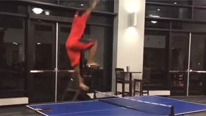 Ping Pong Celebration Fail