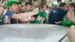 Irish Fans Mending Dented Roof