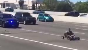 Police Chase With Go Kart