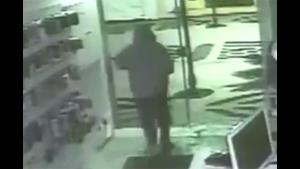 Glass Door Faceplant For Robber