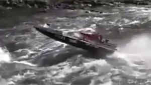 Jet Boat Ends On Rocks And Sinks