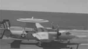 AIRWACS Go Around On Aircraft Carrier