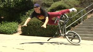 BMX Stairs Stunt With Interruption