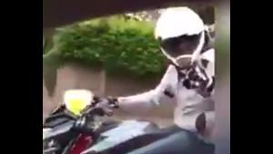 Instant Karma For Road Raging Biker