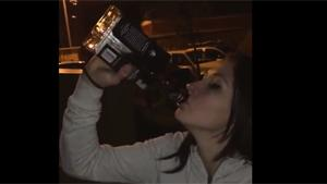Chugging Bottle Of Jack Daniels