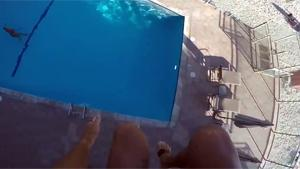 Scary Pool Jump