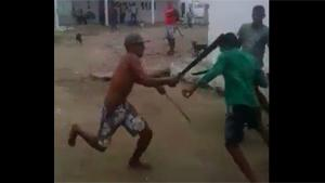 Bizarre Machete Sword Fight