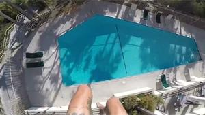 Dangerous Roof Jump In Pool