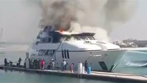 Superyacht On Fire