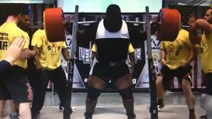World Record Squatting 1005 LBS