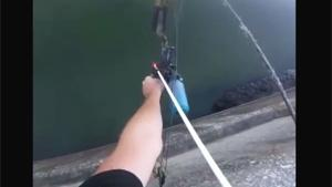 Impressive Bow Fishing Shot