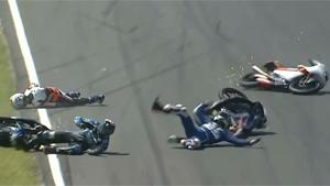 Spectacular Crash At Moto3 GP