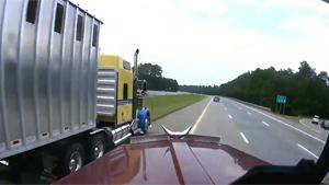Driver Causes Nightmare For Truck Drivers
