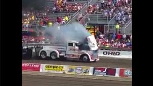 Tractor Pull Truck Blows Engine