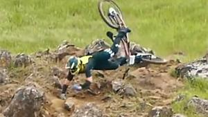 Mountainbiker Has A Bad Day
