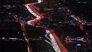 Massive Traffic Jam In Los Angeles