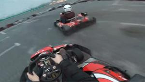 Eating Tyres In Go Karts Crash
