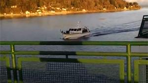 Ferry Colliding With Small Boat