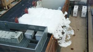 Foam Party At Power Substation