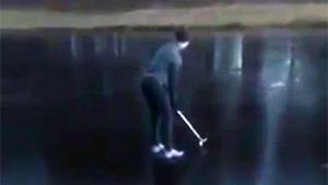 Hilarious Ice Golf Fail