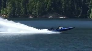 Jet Boat Makes A Run For It