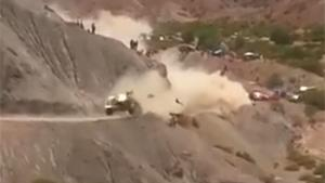 Sainz Crashes Hard In Dakar 2017