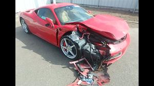 Crashing A Ferrari 458