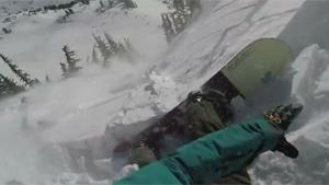 Snowboarder Takes The Fast Way Down