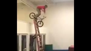 With A BMX From Ladder