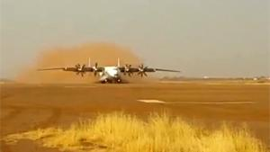 Antonov Landing On Dirt Runway