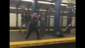 Subway Platform Jump Fail