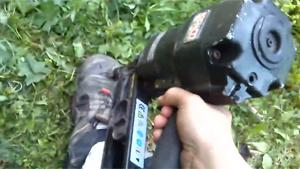 Testing Safety Workshoes With Nailgun
