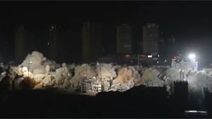 Demolishing Complete House Block In China