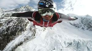 Cool Wingsuit Flight