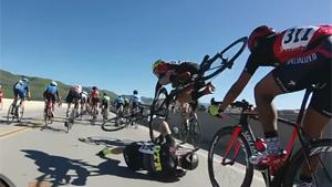 First Person View Of Bizarre Cycling Crash