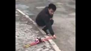 Drone Fitted With Roman Candles