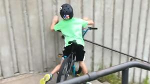 Kid On Bike vs Stairs