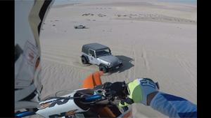 Insane Dune Jump Lands Him On Jeep Hood