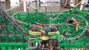 Rollercoaster Amusement Park In LEGO