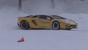 Fun In The Snow With Lamborghini's