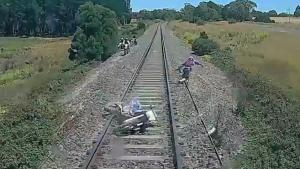 Near Hit On Railroad