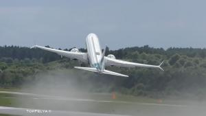 Vertical Takeoff With New Boeing 737 MAX