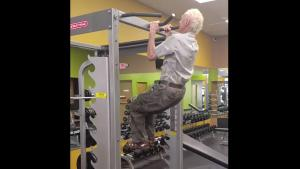 90 Year Old Grandpa In The Gym