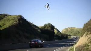 Insane Jump Over Highway