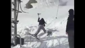 Double Ski Lift Fail