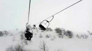 Stranded On Ski Lift In Storm