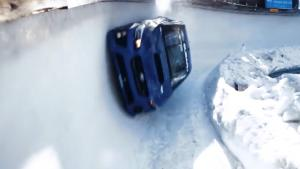 Rally Car Doing Bobsled Run