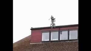 BMX Jump From Roof Ends Bad