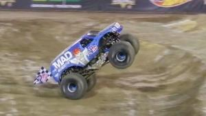 Spectacular Front Flip in Monster Truck